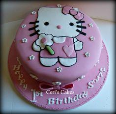 Pin Cakes Hello Cupcake Cupcakes Birthdays Parties Kids Cake On Hello Kitty Fondant, Hello Kitty Birthday Cake, Hello Kitty Cupcakes, Birthday Cake Girls, Birthday Cupcakes, Happy Birthday, Pull Apart Cupcakes, Giant Cupcakes, Ladybug Cupcakes