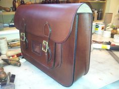 Hand stitched luxury traditional satchel!