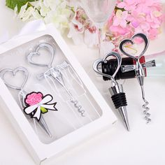 22f615a0d7d80 2016 wedding favors and gifts wedding souvenirs Heart shaped stainless  steel cork bottle opener