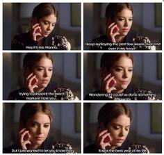 "S4 Ep16 ""Close Encounters"" - Hanna calling Caleb"
