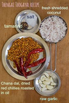 Easy and simple South Indian Tamilnadu style recipe for Spicy Thengai Thogayal - Thuvaiyal With Coconut - Coconut Chutney. Delicious with rice. With step by step pictures Fried Fish Recipes, Veg Recipes, Indian Food Recipes, Cooking Recipes, South Indian Chutney Recipes, Indian Snacks, Cooking Food, Vegetarian Recipes, Vegetarian