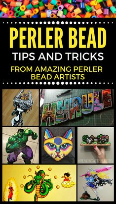 Some great Perler Bead tips and tricks from Perler Bead artists. A must read for anyone wanting to improve their Perler Bead craft. #perlerbeads #diy #craft #artist