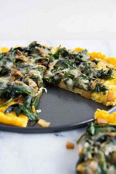 Polenta Tart with Asiago Spinach (3 of 7)
