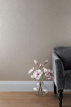 Textured Vinyl Grey Wallpaper