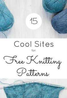 Sites for Free Knitting Patterns by FiberArtsy. There are free knitting patterns for just about any project you have in mind from hat patterns, fingerless gloves, scarves, wraps and sweater patterns. Some of these site also share free crochet patterns. Knitting Websites, All Free Knitting, Knitting Blogs, Easy Knitting, Baby Knitting Patterns, Knitting Designs, Crochet Patterns, Knitting Stitches, Sweater Patterns