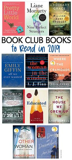 Book club books for 2019! Join our online book club and chat about these great new books. Perfect for people who want to read more books in 2019 or join a book club! #books #bookstoread #bookclub #bookclubbooks