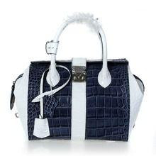 Louis Vuitton Spring 2012 1:1 Grade Crocodile Veins Calf Leather Top Handle - Dark Blue  $209.00