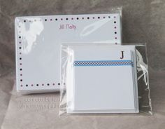 simple stationery + monogrammed mini notes