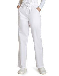 Universal Basics by Adar Women's Mock Fly Solid Scrub Pant - White Leg Scrub, White Scrubs, Best Uniforms, Cherokee Woman, Womens Scrubs, Ideal Fit, Cargo Pants, Work Wear