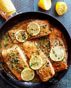 Lightened Up Easy Salmon Piccata! Anything Piccata sounds so refinedhellip