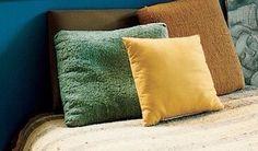dall'ocra al verde giada: colour palette per cuscini velluto