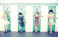 Babes in Mobland |  Gretchen Mol, Paz de la Huerta, Kelly Macdonald, and Aleksa Palladino, photographed at the Catalina Beach Club, in New York. For Vanity Fair.