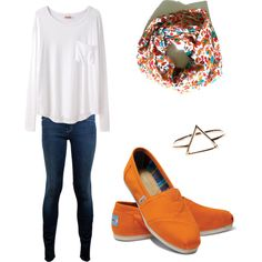 """Without the toms, maybe some floral keds... i wonder where i might find those.... """"Back to school outfit #2"""" by simplyyravenn on Polyvore."""