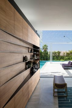pitsou kedem architects has completed house, residence that features seven & of passage& that become apparent as one moves through the home. Shelf Design, Küchen Design, House Design, Rustic Design, Design Trends, Design Ideas, Rustic Furniture, Furniture Design, Pitsou Kedem