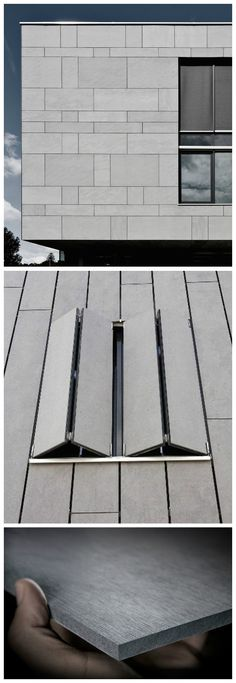 EQUITONE is a versatile facade material designed by architects. Panel size is 4'x10' and can be transformed in any size or shape. Learn more at equitone.com