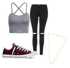 """""""Untitled #10"""" by gabbyfuentes2001 on Polyvore featuring Topshop, Converse and Wanderlust + Co"""