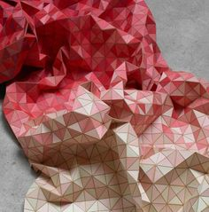 #Wooden Textiles by Elisa Strozyk #red