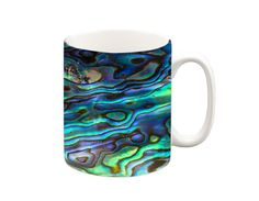 Abalone shell print Mug A ceramic Microwave and dishwasher safe :) All our mugs are printed in our design studio in the UK.