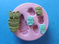 Baby Mama Owl Mold Polymer Clay Resin Silicone Mould DIY Jewelry Finding