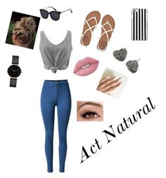 """""""Act Natural"""" by jujubees51901 on Polyvore featuring Billabong, MICHAEL Michael Kors, Myku, Betsey Johnson and Lime Crime"""