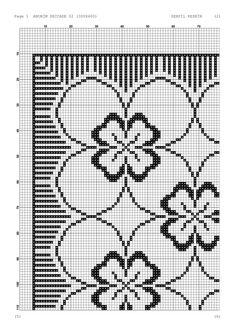 - Makramee World 2020 Cross Stitch Rose, Cross Stitch Borders, Cross Stitch Designs, Cross Stitch Patterns, Blackwork Embroidery, Hand Embroidery, Embroidery Designs, Filet Crochet, Crochet Stitches