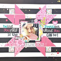 Free Silhouette CAMEO Cut File Be Yourself Scrapbook Layout by Heather Leopard…