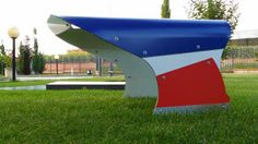 Solar Garage Built for the protection of small and medium-sized robot grass mowers A special design allows you to combine colors that reproduce the colors of the national flags of many countries Here is the example of the colors of the French flag A large garage door on the roof allows the robot to be programmed from the outside without opening the garage