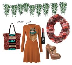 """""""Aztec girl"""" by zinamarina ❤ liked on Polyvore featuring Leslie Danzis, Michael Kors, Charlotte Russe and Nika"""