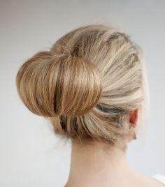 hair bun for long thin hair