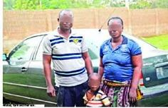 Husband and Wife On-The-Run Arrested by SARS   ...accused of using their toddler to defraud victims of millions A couple in Ogun State 46-year-old Abiola Wahab and Toyin Abiola have given the heinous crime of child trafficking a despicable new face.  The couple were said to have been on the run for a long time until nemesis caught up with the duo in Obatoko Ogun State and they were arrested. They are now cooling their heels in the custody of the Special Armed Robbery Squad (SARS) in the…