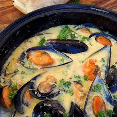 Salmon Recipes, Fish Recipes, Seafood Recipes, Dinner Recipes, Cooking Recipes, Healthy Recipes, Fish Dishes, Seafood Dishes, Garlic Mussels
