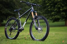 Stanton Slackline 853 with forks @ 160 This is the Dirt Mag test bike