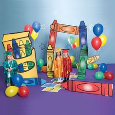 Set Up Colorful Decorations For Play Graduation And Other Events With Our Crazy Crayons Prop