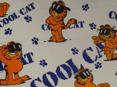 Vintage Garfield Bed sheet fabric
