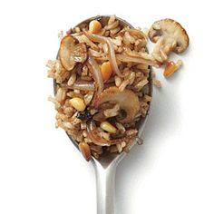 Mushroom and Pine Nut Fried Brown Rice | MyRecipes.com