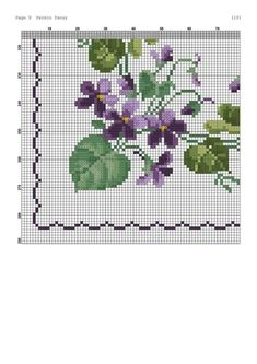 Flower Ornaments, Bead Loom Patterns, Cross Stitch Patterns, Cross Stitch Flowers, Embroidery Patterns, Embroidery Stitches, Loom Beading, Pansies, Pattern Fashion