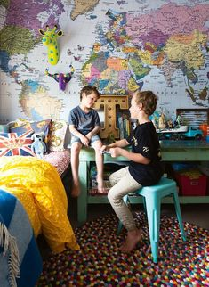 An amazing room to inspire dreams of travel and adventure
