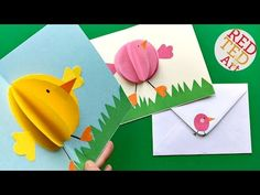 Pop Up Chick Card for Easter - Red Ted Art's Blog