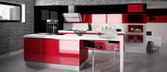 GLOSSY STRASS - cuisine rouge grenat
