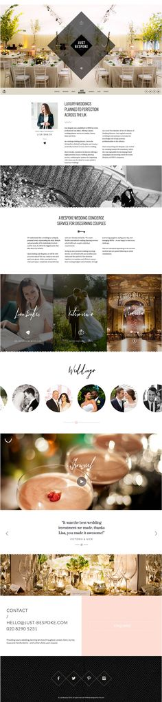 Just Bespoke, Wedding Planner | Website Design