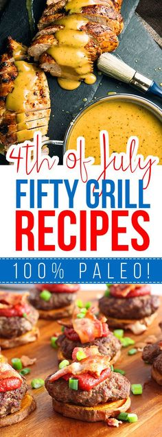 Fifty 4th of July paleo GRILL recipes!