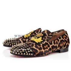 Christian Louboutin Harvanana Men Flats Leopard