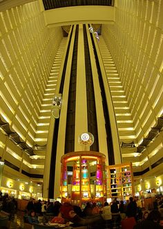 Inside the Marriott Marquis, NYC, in Times Square.  fun place to stay once in awhile