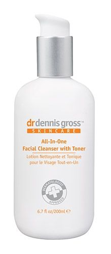 Dr. Dennis Gross Skincare All-In-One Facial Cleanser with Toner (removes waterproof makeup; good for fall and winter)