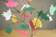 Preschool Crafts for Kids*: Thanksgiving Thankful Tree Craft