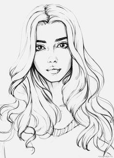 S photos - 17 albums art ekkor: 2019 drawings, art Girl Drawing Sketches, Pencil Art Drawings, Cool Drawings, Art Sketches, Drawing Ideas, Girl Face Drawing, Person Drawing, Drawing Girls, Sketchbook Drawings