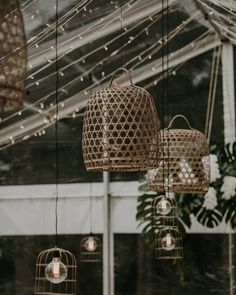 """97 Likes, 3 Comments - Styling & Furniture Hire (@theweddingshed) on Instagram: """"Marquee lighting details for Julia & Bojan wedding @julia_stojanovic_ featuring our bamboo basket…"""""""
