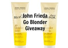 John Frieda Go Blonder shampoo and conditioner giveaway