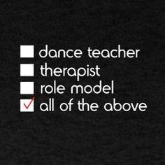 Dance Teacher t-shirt at cafe press