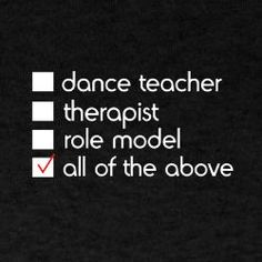Dancers are the best!